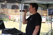 Summer Picnic DJ Making Announcements!