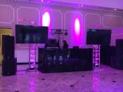 Prom DJ Set Up with screens for Zaps