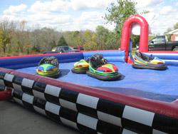 Bumper Cars With Inflatable Arena